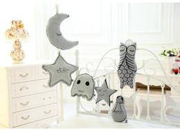 2019 sternlichter für babyzimmer Cute Kids Room Plüschtier Baby Kissen Bolster Decor Stofftiere Kleine Glühbirne Star Moon Ghost Eule Kreative Weihnachtsgeschenke Dekoration günstig sternlichter für babyzimmer