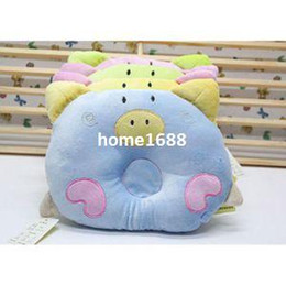 Wholesale Infant Pig - 2014 New Cute Soft Cotton Pig Design Pillow Baby Infant Sleeping Support Pillow Cushion Positioner Prevent Flat Head