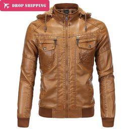 Wholesale Warm Leather Jackets For Men - Wholesale- 2016 Fashion Men's Winter Leather Jackets Faux Jacket Slim Coats Men Thick Warm Sheepskin Jacket For Men ,size 2xl-5xl ,pa1