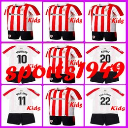 Wholesale Boys Athletic Shorts Xl - Rugby BOYS 2017 2018 Athletic Bilbao Kids Jerseys SUSAETA GURPEGUI MUNIAIN ADURIZ 17 18 set Child Teens Jersey 10 or more free to send DHL