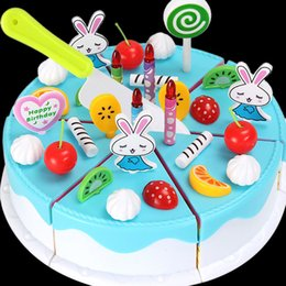 Wholesale Wholesale Fake Cakes - Wholesale- Plastic Simulation Fake Fruit Cake Cutting Toy Puzzle Gifts for Kids Children