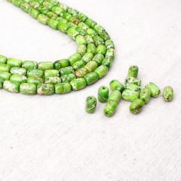 Wholesale Turquoise Rosary - Green Turquoise Loose Beads Strand For Tibetan Religious Buddha Mala Prayer Beads Rosary BYYLNS0812G 35pcs lot