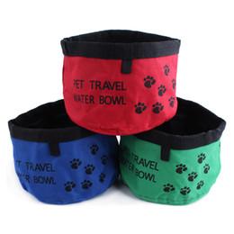 sacos do deleite do cão Desconto Pet Dog Cat Alimentação Beber Comida Tigelas Tratar Bolsa Saco Tratar Tote Bacia De Água De Viagem À Prova D 'Água De Armazenamento De Alimentos De Alimentação Dobrável Bolsa