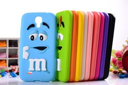 Wholesale S4 Case Bean - 10 colors MM Milk Chocolate Cartoon Beans Lovely Silicone Silicon gel skin Cell Phone Case Cover for Samsung Galaxy S4 i9500