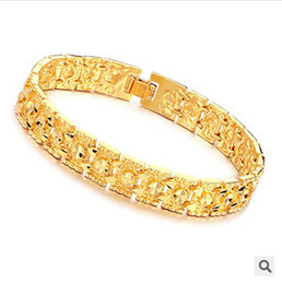 Wholesale Gold Jewellery Designs - Wholesale-OPK JEWELLERY Luxury 18K Gold plated bracelet brand new design width 11mm infinity Bracelet & bangle Fashion FREE SHIPPING 160