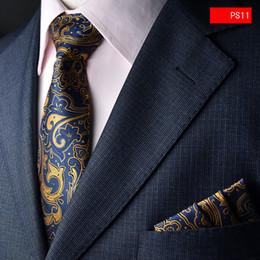 2019 grossistes cravates pour hommes bowties Cravate et mouchoir de poche pour homme d'affaires mis en costume