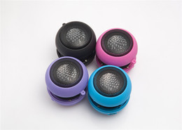 Wholesale Hamburger Speaker Wholesale - Portable pocket Mini Hamburger Speaker for iPhone iPad iPod Laptop PC MP3 Audio Amplifier mini speakers for samsung phone tablet free DHL