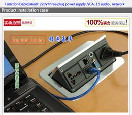 Wholesale Information Outlets - Advanced desktop socket  VGA,HDMI,3.5 AUDIO multimedia desktop socket   meeting desktop information box   outlet box | TD-016