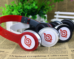 Wholesale Headphones Cartoons - Wholesale-Japanese Different style cartoon Anime Naruto Cosplay Headband 3.5mm Folding wired Earphone Headphones