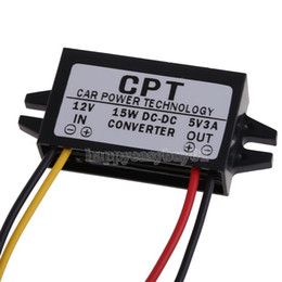 Wholesale Car Vcd Player - DC to DC Converter Regulator 12V to 5V 3A 15W Car Led Display Power Supply H1E1