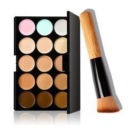 Wholesale Make Up Palette Camouflage Concealer - newest Cosmetic Salon Party 15 Colors Camouflage Palette Face Cream Makeup Concealer Palette Make up Set Tools With Brush free shipping DHL