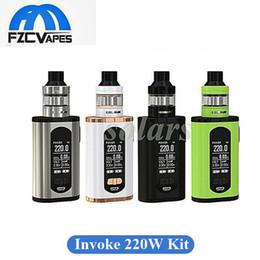 Wholesale E T Kits - Authentic Eleaf Invoke 220W Kit with Ello T Tank 2ml 4ml E Cigarette Vape Kit 4 Colors 100% Original