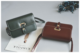 Wholesale Small Belt Bags - 2018 Classic Autumn and winter new fashion belt small bag wild simple handbag retro shoulder bag messenger bag