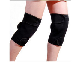Wholesale Tourmaline Knee Pads - 100pcs lot Magnetic Therapy knee pads knee braces knee support knee protector Tourmaline Self Heating pain Relief Arthritis health care