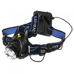 Wholesale Headlamp Wholesalers - New Arrival Zoomable CREE XM-L XML T6 LED Headlamp 3-mode 2000LM Headlight Lamp Powered By 4*AA Battery for Camping Cycling Free Shipping
