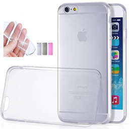 Wholesale Galaxy S3 Case Tpu - Ultra Thin Clear Transparent TPU Case Cover For iPhone 4 4S 5 5S 6 4.7 plus 5.5 Samsung Galaxy S3 S4 S5 Note3 Sony Xperia L36h HTC M8