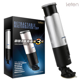 Wholesale Free Fast Sex - Super X-9 Piston Rechargeable Masturbation Cup vaginal cup Super Fast Electric Male Fully Automatic Masturbator hand free Sex Toy For Men