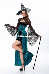 Wholesale Cheap Devil Costumes - 1510 2015 Adult halloween costumes for women Sexy Sorceress Cosplay Costume Cheap High quality Devil halloween costumes woman clothes