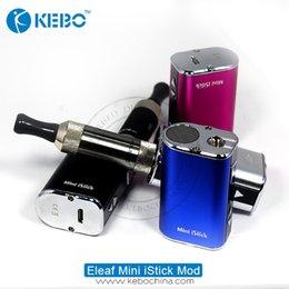 Wholesale 5v 3v - Authentic eleaf istick mini 10W 1050mah VV 3V-5V with wholesale price mini istick 10W eleaf 30W&50W