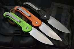 Wholesale Microtech Combat - Microtech LUDT 5391 folding knife D2 blade 6061-T6 Aluminum alloy handle outdoor camping hunting pocket fruit kitchen Knives EDC tool