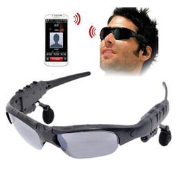 Wholesale Earphone Glasses - Smart Glasses Bluetooth Sunglasses Fashion Sun Glasses Outdoor Sport Headset MP3 Player Cell Phone Wireless Earphones Bluetooth Eyeglasses