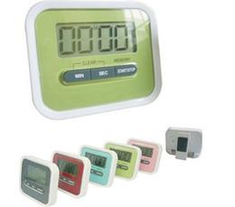 Soportes lcd online-Regalo de Navidad Cocina digital Cuenta atrás / Arriba Pantalla LCD Temporizador / reloj Alarma con soporte de imán Clip