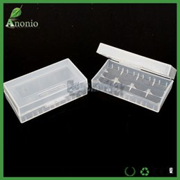Wholesale Wholesale Plastic Containers Chinese - Battery Holder 500pcs E-cigs Plastic Battery Case Box Holder Storage Container pack 2*18650 or 4*18350 Batteries Storager Container