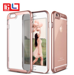 Wholesale Dual Layer Drop - New Arrival Phone case Dual Layer Drop Protection Transparent Background Tactile TPU Responsive Button Bigger ports for charging freeshiping