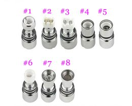 Wholesale Double Wicks Atomizer - Dual Coil For Wax Glass Globe Atomizer Clearomizer Double Ceramic Rod Coil Titanium Wick Glass Globe Replacement Coil Head