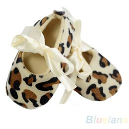 Wholesale Leopard Walking Shoes - Wholesale- Baby Girl Toddler Leopard Soft Sole Walking Shoes Sneaker Newborn To 12 Months 1HQ2 76YF