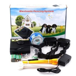 Wholesale Dog Electronic Fencing - Smart Electronic Dog Fencing System Water Resistant Pet Fence System with 2 Shock Collar for 2 Dogs Excellent Dog Training 00922