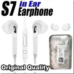 Wholesale High Headphones - Original Quality Earphones For S7 S6 edge Headphone High Quality In Ear Headset With Mic Volume Control For I5 I6 With Retail Box