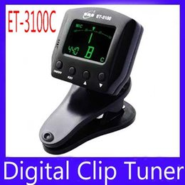 Wholesale Guitar Tuner Clip Eno - mini digital clip guitar tuner ENO ET-3100C with full color display MOQ=1 free shipping