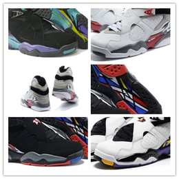 Wholesale Aqua Basketball - Wholesale New Style Air Retro Alternate AQUA 8s RELEASE 8s BG GS THREE-PEAT 8s sneakers basketball shoes Men and Women Sports shoes For