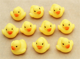 Wholesale 13 Years Kids Beach - 500pcs new arrive Baby Bath Water Toy toys Sounds Yellow Rubber Ducks Kids Bathe Children Swiming Beach Gifts D137