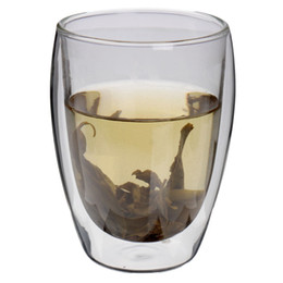 Wholesale Double Wall Heat Resistant Glasses - Wholesale-350mL Clear Handmade Heat Resistant Double Wall Glass Kungfu Tea Drink Cup Healthy Drink Mug Coffee Cup Insulated Clear Glass