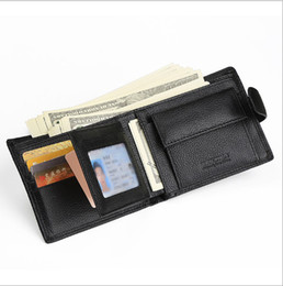 Wholesale photo blocks - RFID Blocking Leather Wallet for Men- Multi Card, 8 Credit Card Slots, W   snap Closure with 2 Photo Holder free shipping
