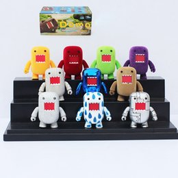 Wholesale Action Figure Packaging - Domo Kun Action Figures PVC Toys Domo Movable Figures 10pcs set Box Packaged 2inch 5cm Free Shipping
