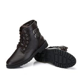 Wholesale purple western boots - XiaGuoCai Spring autumn Men Boots Vintage Style Men Shoes Casual Fashion High-Cut Lace-up Warm Hombre Motorcycle Men Shoes