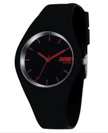 Wholesale Skmei White Silicone - High Quality Brand SKMEI New Fashion Casual Silicone Watches With Japan Quartz Unisex WristWatches For Men Women Gift 2016 New