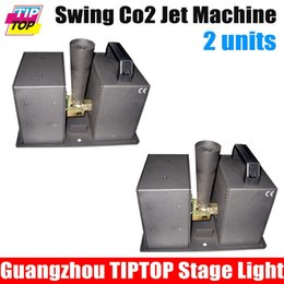 Wholesale Co2 Jet Column Machine - Wholesale-2Pcs Lot Swing Co2 jet,Special Effect DJ Spray Column Fog Machine Stage moving Rotating co2 machine ,Club DJ co2 jet moving head