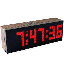 Wholesale Large Digital Table Clock - Large LED Display Board Big Digital Led Alarm Clock Calendar Table Clock Brightness Control Wall Clock