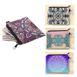 Wholesale Money Collection - Wholesale Mandala Collection Mini Square Wallet Fashion Prints Women Purse Holder Small Zipper Coin Purse Female Money Bags