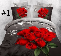 Wholesale 3d Oil Painting Bedding 4pcs - Wholesale-3D bedding sets bedclothes tabby oil painting suit Bed Set 4Pcs bed sheet pillowcase sleeping bags JL-3732