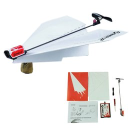 Wholesale Ups Power Metal - Wholesale-Essential Power Up Electric Paper Plane Airplane Conversion kit Fashion Educational Toys Great Gift
