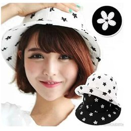 Wholesale ladies wintersweet cotton bucket hat plum blossom fishing hat summer outdoor bob chapeau boonie hat women men hiking hat