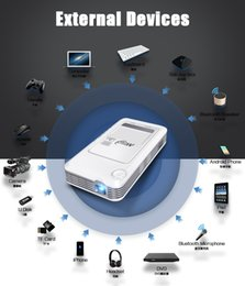 Wholesale Intelligent Video Systems - Best Projector Intelligent Smart Mini Brand Projector Android System Led Pico Projectors HD DLP Pocket Mobile Video Outdoor Multimedia China