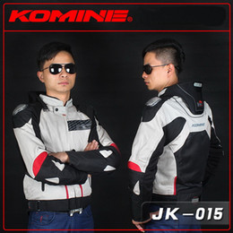 Wholesale Cross Country Jackets - KOMINE JK015 titanium alloy racing suits motorbike riding clothes cross-country motorcycle jacket drop resistance knight clothing 2 color