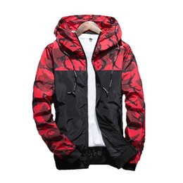 Wholesale Camouflage Jacket Hood - HOT sale Super Camouflage Jackets hoodie clothes hood by air men Outerwear patchwork Coats Men's Clothing Army Green Apparel