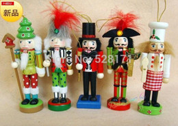 Wholesale Wooden Craft Ships - Wholesale-Free Shipping 5pcs lot European Fairy Tale Nutcracker 12cm Nutcracker Suite Wooden Puppet Crafts Wedding Gift Christmas Gift